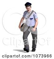 Clipart 3d Postal Mail Man Walking Royalty Free CGI Illustration by Ralf61