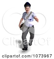 Clipart 3d Postal Mail Man Delivering A Letter 1 Royalty Free CGI Illustration by Ralf61