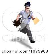 Clipart 3d Postal Mail Man Delivering A Letter 2 Royalty Free CGI Illustration by Ralf61