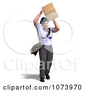 Clipart 3d Postal Mail Man Delivering A Parcel 2 Royalty Free CGI Illustration by Ralf61
