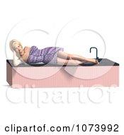 Clipart 3d Woman Draped In A Towel By A Bath Tub 3 Royalty Free CGI Illustration