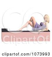 Clipart 3d Woman Draped In A Towel By A Bath Tub 4 Royalty Free CGI Illustration