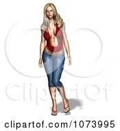 Clipart 3d Sexy Woman Royalty Free CGI Illustration