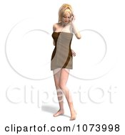 Clipart 3d Sexy Woman Wrapped In A Towel 1 Royalty Free CGI Illustration