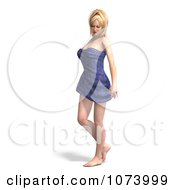Clipart 3d Sexy Woman Wrapped In A Towel 2 Royalty Free CGI Illustration