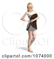 Clipart 3d Sexy Woman Wrapped In A Towel 3 Royalty Free CGI Illustration