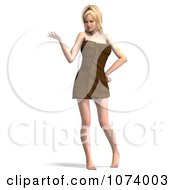 Clipart 3d Sexy Woman Wrapped In A Towel 6 Royalty Free CGI Illustration