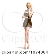 Clipart 3d Sexy Woman Wrapped In A Towel 7 Royalty Free CGI Illustration