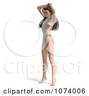 Clipart 3d Sexy Woman In Lingerie 4 Royalty Free CGI Illustration