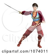 Clipart 3d Pirate Woman Fighting With A Sword 2 Royalty Free CGI Illustration by Ralf61