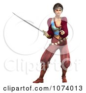 Clipart 3d Pirate Woman Fighting With A Sword 4 Royalty Free CGI Illustration