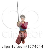 Clipart 3d Pirate Woman Fighting With A Sword 5 Royalty Free CGI Illustration