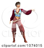 Clipart 3d Pirate Woman Pointing Royalty Free CGI Illustration