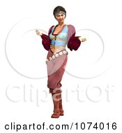 Clipart 3d Pirate Woman Posing Royalty Free CGI Illustration