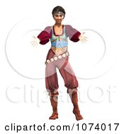 Clipart 3d Pirate Woman Holding Out Her Arms Royalty Free CGI Illustration