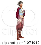 Clipart 3d Pirate Woman Royalty Free CGI Illustration