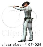Clipart 3d Masked Cowboy Hero Shooting Royalty Free CGI Illustration by Ralf61
