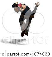 Clipart 3d Wild West Bandit Outlaw Jumping 2 Royalty Free CGI Illustration by Ralf61