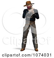 Clipart 3d Wild West Bandit Outlaw 1 Royalty Free CGI Illustration by Ralf61