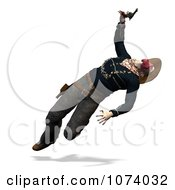 Clipart 3d Wild West Bandit Outlaw Jumping 1 Royalty Free CGI Illustration by Ralf61