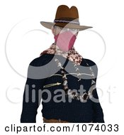Clipart 3d Wild West Bandit Outlaw 2 Royalty Free CGI Illustration by Ralf61