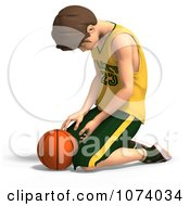 Clipart 3d Teen Basketball Player Boy Pouting Royalty Free CGI Illustration