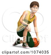 Clipart 3d Teen Basketball Player Boy 2 Royalty Free CGI Illustration