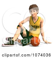 Clipart 3d Teen Basketball Player Boy 1 Royalty Free CGI Illustration