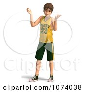 Clipart 3d Teen Basketball Player Boy Shrugging Royalty Free CGI Illustration