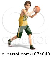 Clipart 3d Teen Basketball Player Boy 3 Royalty Free CGI Illustration