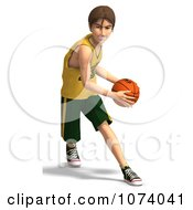 Clipart 3d Teen Basketball Player Boy 4 Royalty Free CGI Illustration by Ralf61