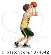 Clipart 3d Teen Basketball Player Boy 5 Royalty Free CGI Illustration by Ralf61