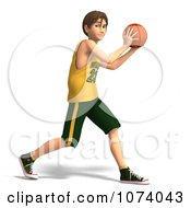 Clipart 3d Teen Basketball Player Boy 6 Royalty Free CGI Illustration