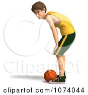 Clipart 3d Teen Basketball Player Boy 7 Royalty Free CGI Illustration