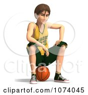 Clipart 3d Teen Basketball Player Boy 8 Royalty Free CGI Illustration