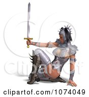 Clipart 3d Medieval Fantasy Warrior Princess Holding A Sword 5 Royalty Free CGI Illustration by Ralf61
