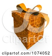 Clipart 3d Orange Patterned Gift Box 2 Royalty Free CGI Illustration