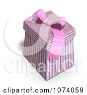 Clipart 3d Pink Patterned Gift Box Royalty Free CGI Illustration