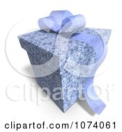 Clipart 3d Blue Patterned Gift Box 2 Royalty Free CGI Illustration