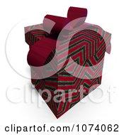 Clipart 3d Zig Zag Patterned Gift Box 1 Royalty Free CGI Illustration