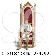 Clipart 3d Fairy Tale Prince Sitting On The Throne 2 Royalty Free CGI Illustration by Ralf61