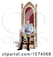 Clipart 3d Fairy Tale Prince Sitting On The Throne 1 Royalty Free CGI Illustration by Ralf61