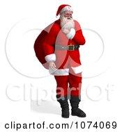 Clipart 3d Santa Carrying A Bag Royalty Free CGI Illustration by Ralf61