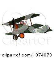 Clipart 3d Santa Flying A Biplane 1 Royalty Free CGI Illustration by Ralf61