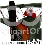 Clipart 3d Santa Flying A Biplane 2 Royalty Free CGI Illustration by Ralf61