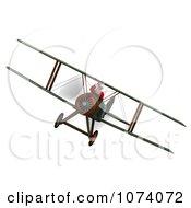 Clipart 3d Santa Flying A Biplane 3 Royalty Free CGI Illustration by Ralf61