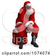 Clipart 3d Santa Sitting On A Bag Royalty Free CGI Illustration by Ralf61
