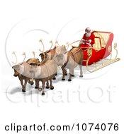 Clipart 3d Santa And Sleigh 1 Royalty Free CGI Illustration by Ralf61