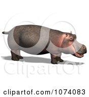 Clipart 3d Wild Hippo 2 Royalty Free CGI Illustration