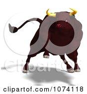 Clipart 3d Running Bull Royalty Free CGI Illustration